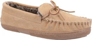 Hush Puppies Allie Tan Suede Womens Slippers